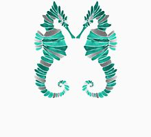 Seahorse – Turquoise & Silver Unisex T-Shirt
