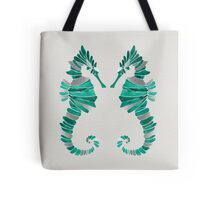 Seahorse – Turquoise & Silver Tote Bag