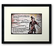 Paul Atreides from Dune Framed Print