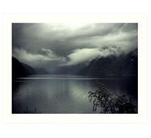 Dark Fjord Art Print