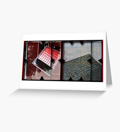 Open work about Open red (9) Greeting Card