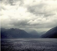 Clouds over the fjord by MsDunwich