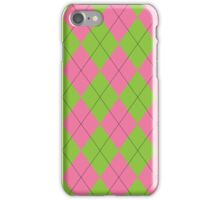 Pink and Green Argyle iPhone Case/Skin