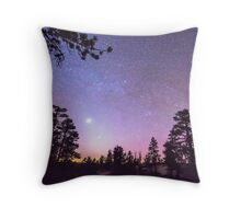 Forest Night Star Delight Throw Pillow