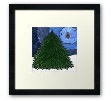 Christmas Tree Star Framed Print