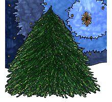Christmas Tree Star Photographic Print