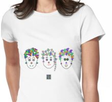 """Anthropomorphic Math Chicks 3""© Womens Fitted T-Shirt"