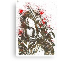 Rick Grimes The Walking Dead Watercolor and Ink Canvas Print