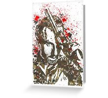 Rick Grimes The Walking Dead Watercolor and Ink Greeting Card