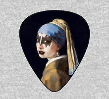 Vermeer - Girl with pearl earring - Kiss - Gene Simmons make up Unisex T-Shirt