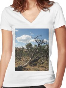 Horse With No Name Women's Fitted V-Neck T-Shirt