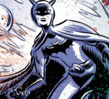 1940's Batman Art Print Serial saturday matinee dc comics comic book vigilante super hero illustration drawing joe badon blue bob cane film Sticker