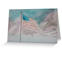 Storm over Patriotism Greeting Card