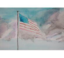 Storm over Patriotism Photographic Print