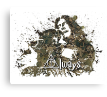HARRY POTTER SNAPE AND LILY ALWAYS Canvas Print