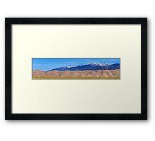 Great Sand Dunes National Park Panorama Framed Print