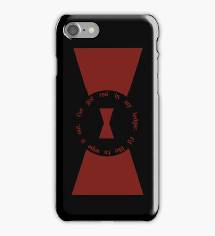Red in my Ledger iPhone Case/Skin