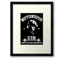 Notorious Gym - Mo Lift Mo Muscle Biggie Motivational Mashup Framed Print