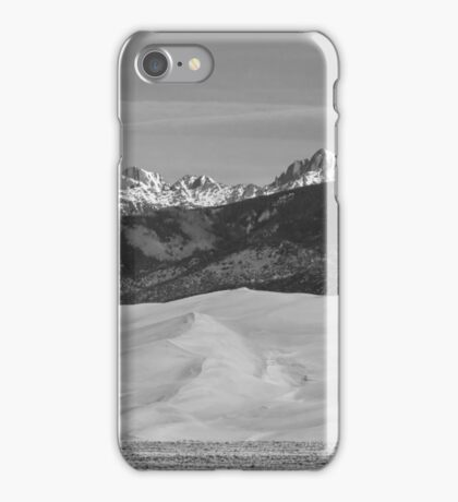Great Sand Dunes National Park Panorama BW iPhone Case/Skin