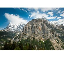 Eiger, Mönch and part of Jungfrau mountain Photographic Print