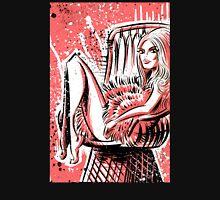 Brigitte Bardot, bridgit, bardo, actress, 60's, 70's, sexy, female, chair, pink, illustration, contempt, and god created woman, joe badon Unisex T-Shirt