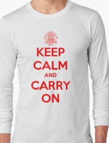 Keep Calm Carry On Calgary Red Long Sleeve T-Shirt