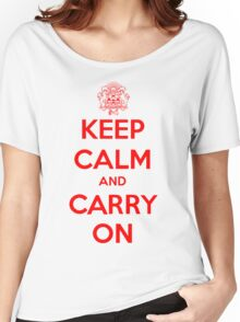 Keep Calm Carry On Calgary Red Women's Relaxed Fit T-Shirt