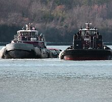 Two Tugs by Timothy Gass
