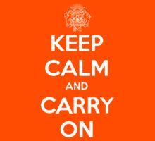 Keep Calm Carry On Calgary White Kids Tee