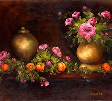 ROSES AND PEACHES by Mary  Lawson
