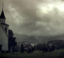 Church in the rain by MsDunwich