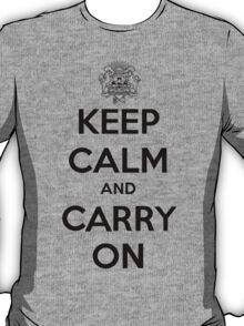 Keep Calm Carry On Calgary Black T-Shirt
