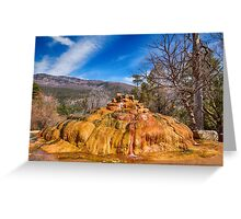 Pinkerton Hot Spring Formation Greeting Card