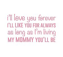 I'll Love You Forever by jehnner
