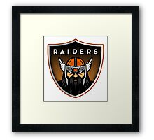 Winslow Black Raiders Shirt Framed Print