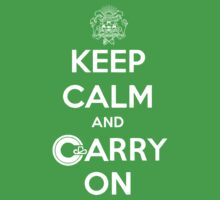 Keep Calm Carry On Calgary White Kids Clothes