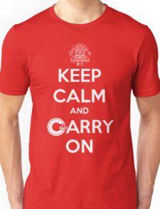 Keep Calm Carry On Calgary White Unisex T-Shirt
