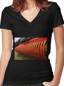 Farm equipment Women's Fitted V-Neck T-Shirt