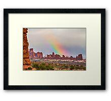 Rainbow Down Framed Print