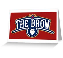 The Brow (Blue) Greeting Card