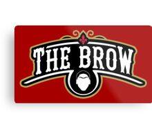 The Brow (Black) Metal Print