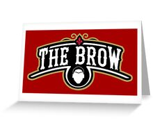 The Brow (Black) Greeting Card