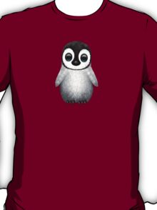 Cute Baby Penguin on Blue T-Shirt
