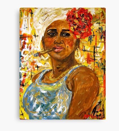 The Lady from Old Havana 2 Canvas Print