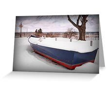 Docked in Winter Greeting Card