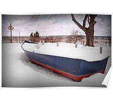 Docked in Winter Poster