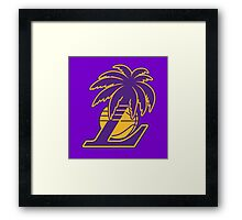 Los Angeles Lakers Tropical Logo Framed Print