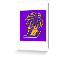 Los Angeles Lakers Tropical Logo Greeting Card