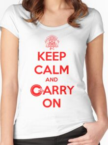Keep Calm Carry On Calgary Red Women's Fitted Scoop T-Shirt