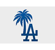Los Angeles Dodgers Tropical Logo Photographic Print